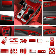For 2019-2021 Cadillac Xt4 Red Carbon Fiber Interior Decoration Full Set Cover