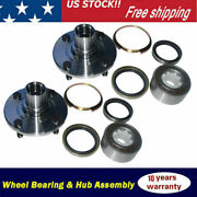 2 Front Wheel Bearing And Hub For 1998-2002 Toyota Corolla 1993-1997 Geo Prizm