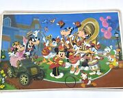 5 Vintage Walt Disney Production Rare Placemat Mickey Marching Band And Others