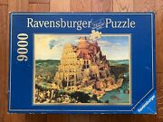 1/2 Sealed 9000 Ravensburger Puzzle The Tower Of Babel By Pieter Bruegel 178018