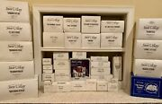 Dept. 56 Snow Village Lot Of 37 Including 18 Buildings And 19 Accessories