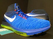Nike Air Zoom All Out Flyknit Trainer Racer Blue Neon Volt White 844134-401 10