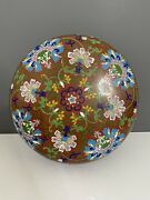 Antique Chinese Cloisonne Lidded Box Large 30 Cm Late Qing Early 20th C