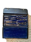 Vintage Dietzgen Universal Drawing Instruments Drafting Tools Compass No 1037cc