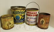 Vintage 4 Mixtin Cans. Albert Pipe And Cigarette Tobacco Metal Tin Can