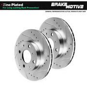 Front Drilled And Slotted Brake Rotors For Fiat 124 Spider 2016 Mazda Mx-5 Miata