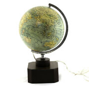 1950and039s 10 Antique French Terrestrial Lighted Globe Forest Adnet Modernist