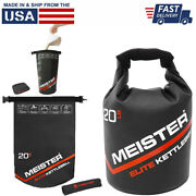 Meister Elite Portable Sand Kettlebell - Soft Sandbag Weight - 10/15/20lb (new)