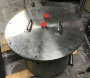 14 X 17 Vacuum - Pressure Process Chamber Pots, Stainless Steel Kf25 Fittings