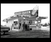 Dairy Queen Diner Photo Vintage Restaurant Sign Burger Joint Shakes Ice Cream