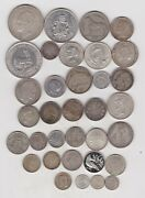 250.09 Grams Of World Foreign Silver Content Coins Used To Near Mint Condition
