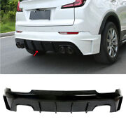 Fit For Cadillac Xt4 2019-2021 Black Abs Rear Bumper Diffuser Lip Spoiler Refit