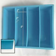 Large Blue Silicone 4 Cavity Resin Casting Mold 2x2x5 Pen Scales Knife Blanks