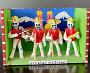 Day Of The Dead Mariachi Band Mexican Folk Art Hand Made Paper Mache Excellent