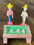 Day Of The Dead Pool Table Mexican Folk Art Hand Made Paper Mache