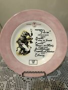 Royal Overhouse Salad Plate Pierre Animal Chefs Elephant Pink Cafe French Decor