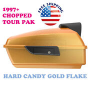 Hard Candy Gold Flake Chopped Tour Pack Black Hinges Latch Fit 97-20 Harley