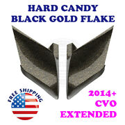 Hard Candy Black Gold Flake Cvo Stretch Side Cover For 2014+ Harley Street Road