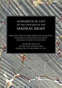 Alphabetical List Of The Officers Of The Indian Army 1760 To The Year 1834 Ma...
