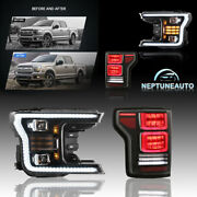 Full Led Headlights + Taillights For 2017-2020andnbspford F-150 Brand New Plug-n-play