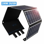 24w Solar Panel 5v Trickle Charge Battery Charger Maintainer Marine Rv Car C 05