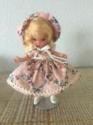 Nancy Ann Storybook Doll Judy Ann Usa In One Of A Kind Outfit Ms Jt Pt 5.5