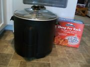 Masterbuilt Electric Turkey And Seafood Fryer/boiler/steamer And Deep Fry Rack