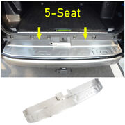 For 2014-2021 Toyota 4runner Silver Steel Outer Rear Bumper Protector Guard Trim