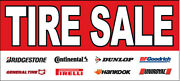 Tire Sale With Logos Vinyl Banner Sign Rb - Multi Sizes