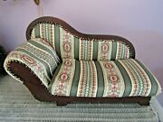 Marked Down Vintage Salesman Sample Chaise Lounge Dog Sofa Couch
