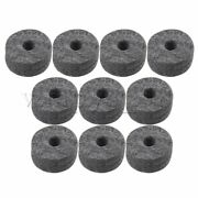 10pcs 46g Cymbal Stand Felt Washers Black Luthier Supplies For Drum Mats Kit