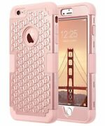 Iphone 6s Plus Case Glitter Bling Hybrid Shockproof Rubber Protective Case Cover