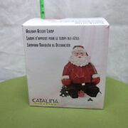 Santa Claus Holiday Accent Lamp In Box Design 1980s Catalina Lighting