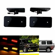 Black Smoked Lens Front And Rear Led Side Marker Lights For Mercedes G Classw463
