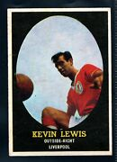 A And Bc Gum Bazooka 1962 Footballer Kevin Lewis - Liverpool Type Card