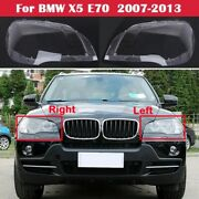 For Bmw X5 E70 Headlight Glass Cover Left Right Side Headlamp Lens Series New