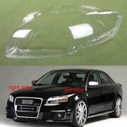 For Audi A4 B7 Headlight Glass Cover Left Right Headlamp Lens Lampshade Shell