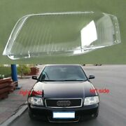 For Audi A6 C5 Headlight Glass Cover Left Right Headlamp Lens Lampshade Shell