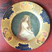 1905 Stillwater Whiskey And Canyon Springs Whiskey Tin Litho Vienna Art Plate