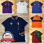 Men Polo Big Pony Mesh Polo Shirt Fine Quality Classic Fit - S-xxl