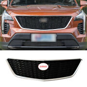 For Cadillac Xt4 2019-2021 Sport Style Front Center Mesh Grille Grill Cover Trim