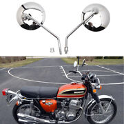 Chrome Motorcycle Rearview Mirrors For Honda Cb 350 450 500 550 600 650 900 750