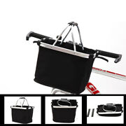Multi-purpose Waterproof Bicycle Handle Basket Outdoor Shopping Container