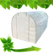 Greenhouse Pe Plastic Outdoor Garden Grow Bag Green House With Shelves White