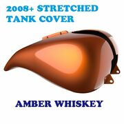 Amber Whiskey Stretched Tank Cover Fit Harley 2008-20 Street Electra Road Glide