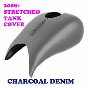 Charcoal Denim Stretched Tank Cover Fit Harley 08-2020 Street Road Touring