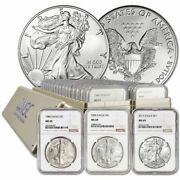 1986 - 2018 Complete 33 Coin American Silver Eagle Set Ngc Ms 69 A-b-c