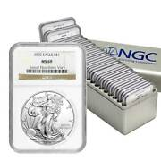 1986 - 2005 Complete 20 Coin American Silver Eagle Set Ngc Ms 69 D