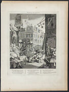 Hogarth By Cook - Beer Street Gin Lane. 23 1802 Two Satirical Folio Engravings