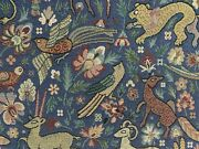 Traditional Vintage Woodland Tapestry Curtain/upholstery Fabric Sky Blue